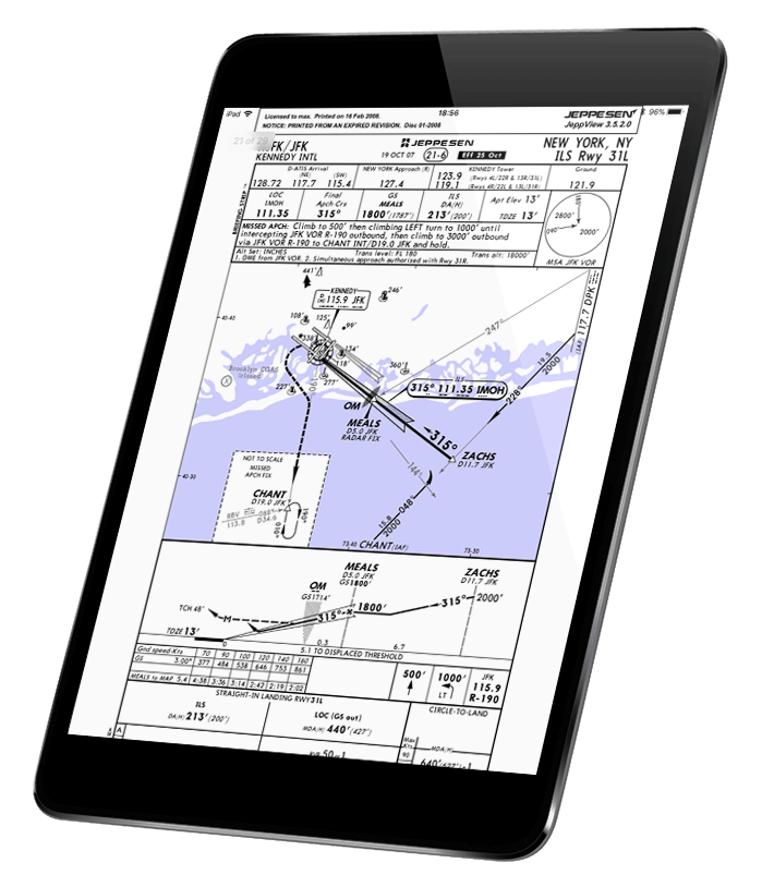 an IFR approach chart displayed on Pilot Assist Pro™ app