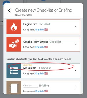 creating custom checklist